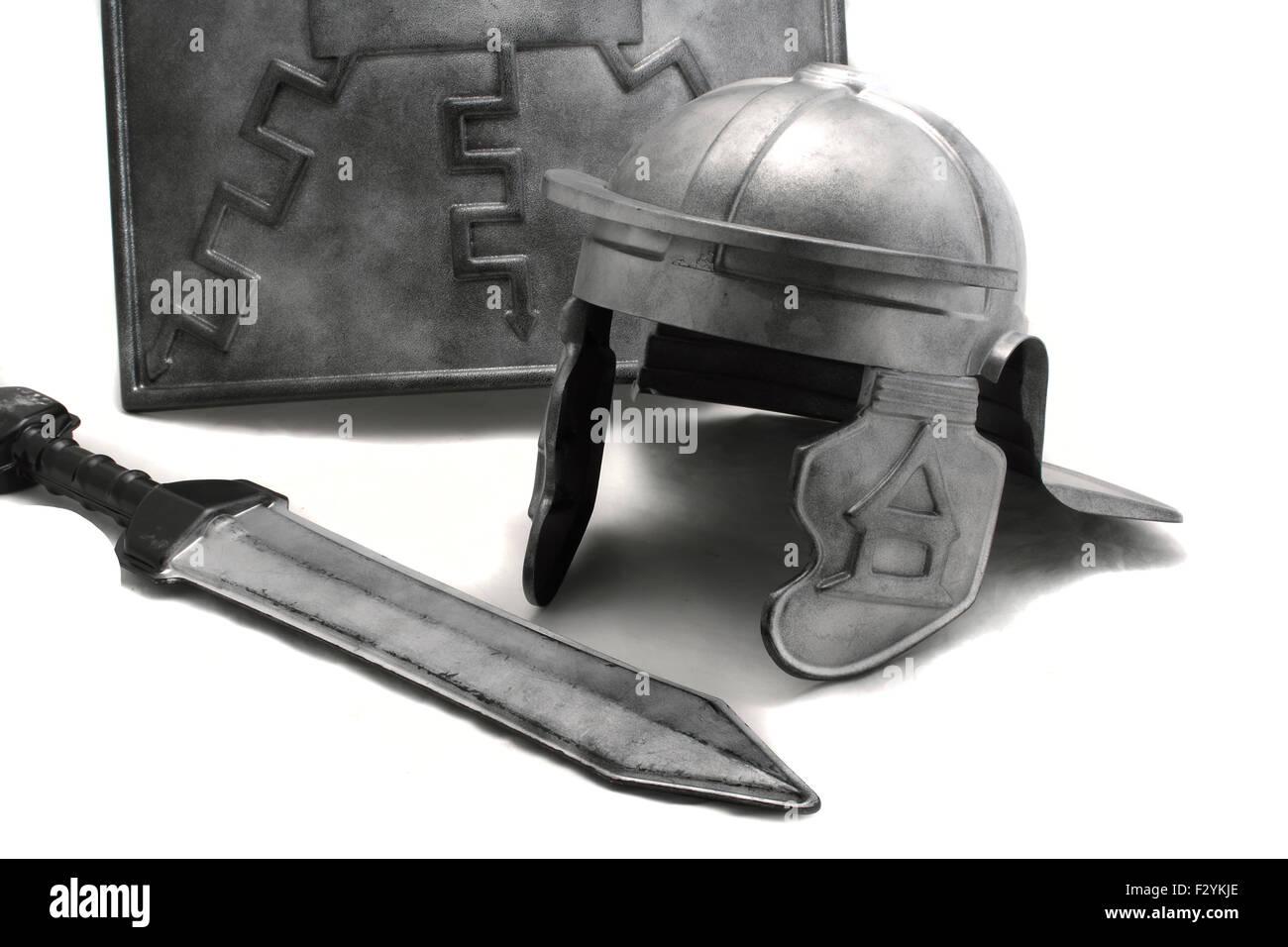 toy plastic roman armour scutum shield gladius sword and