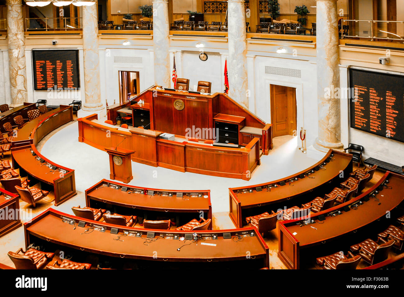 House of representatives chamber inside the arkansas state for Cost to build a house in little rock