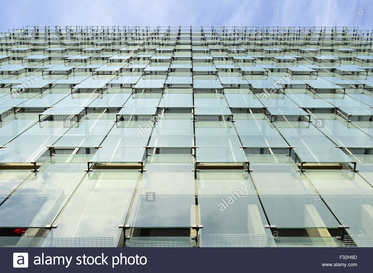 Glass Cladding Facades : Modern office building glass facade cladding low angle