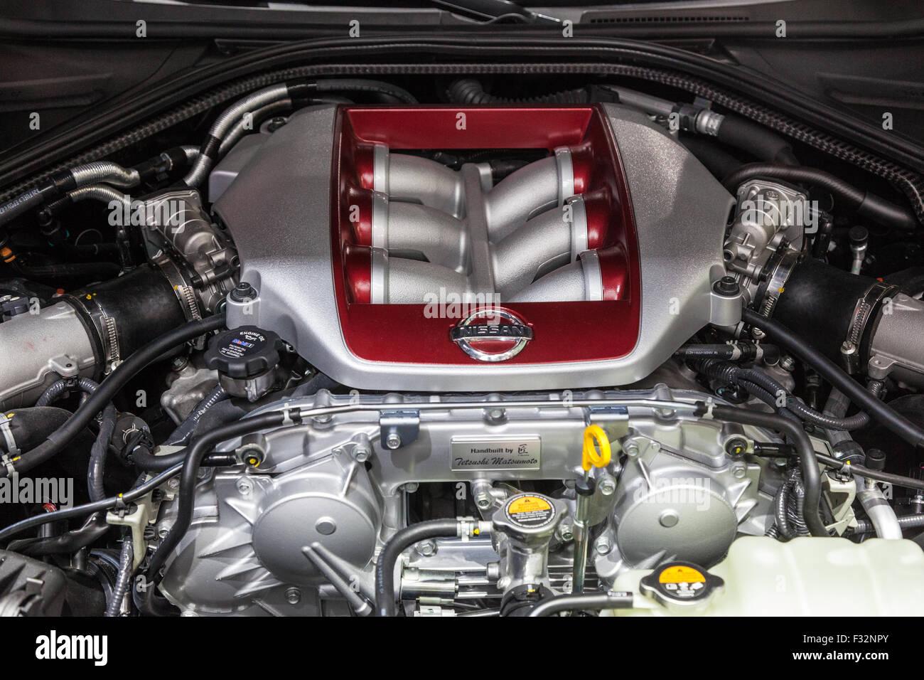 Nissan 370Z Nismo V6 Engine At The IAA International Motor Show 2015