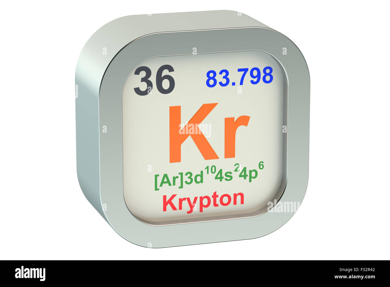 Krypton element symbol isolated on white background stock photo krypton element symbol isolated on white background buycottarizona