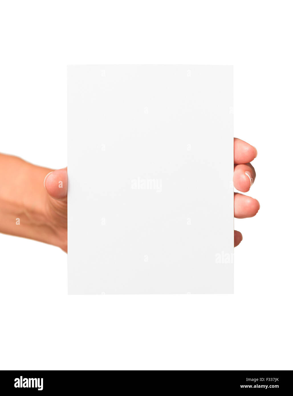 Woman holding blank business card in hand stock photo royalty stock photo woman holding blank business card in hand magicingreecefo Choice Image