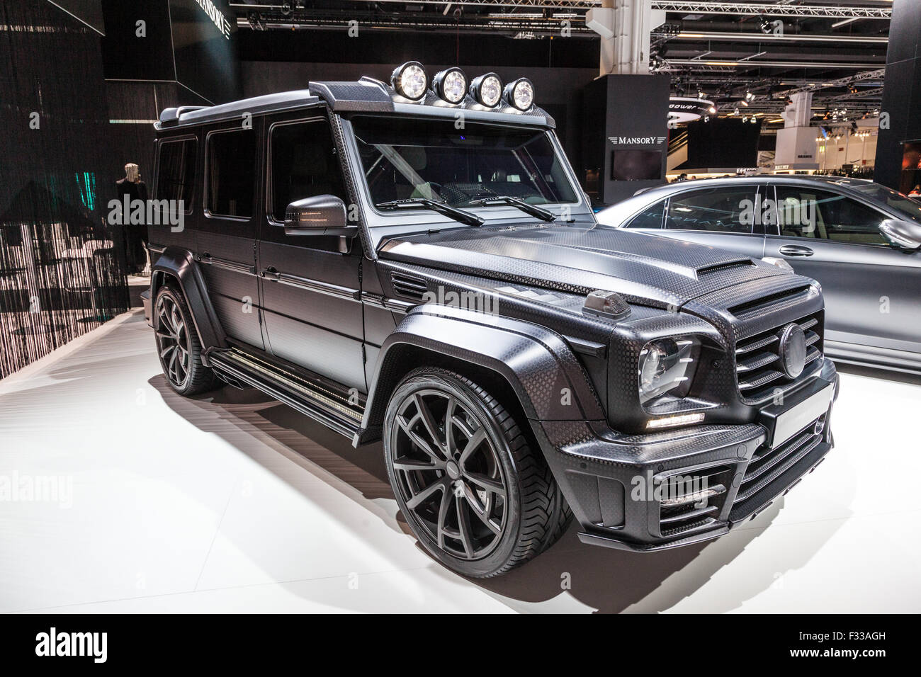 mansory mercedes benz g class at the iaa 2015 stock photo. Black Bedroom Furniture Sets. Home Design Ideas