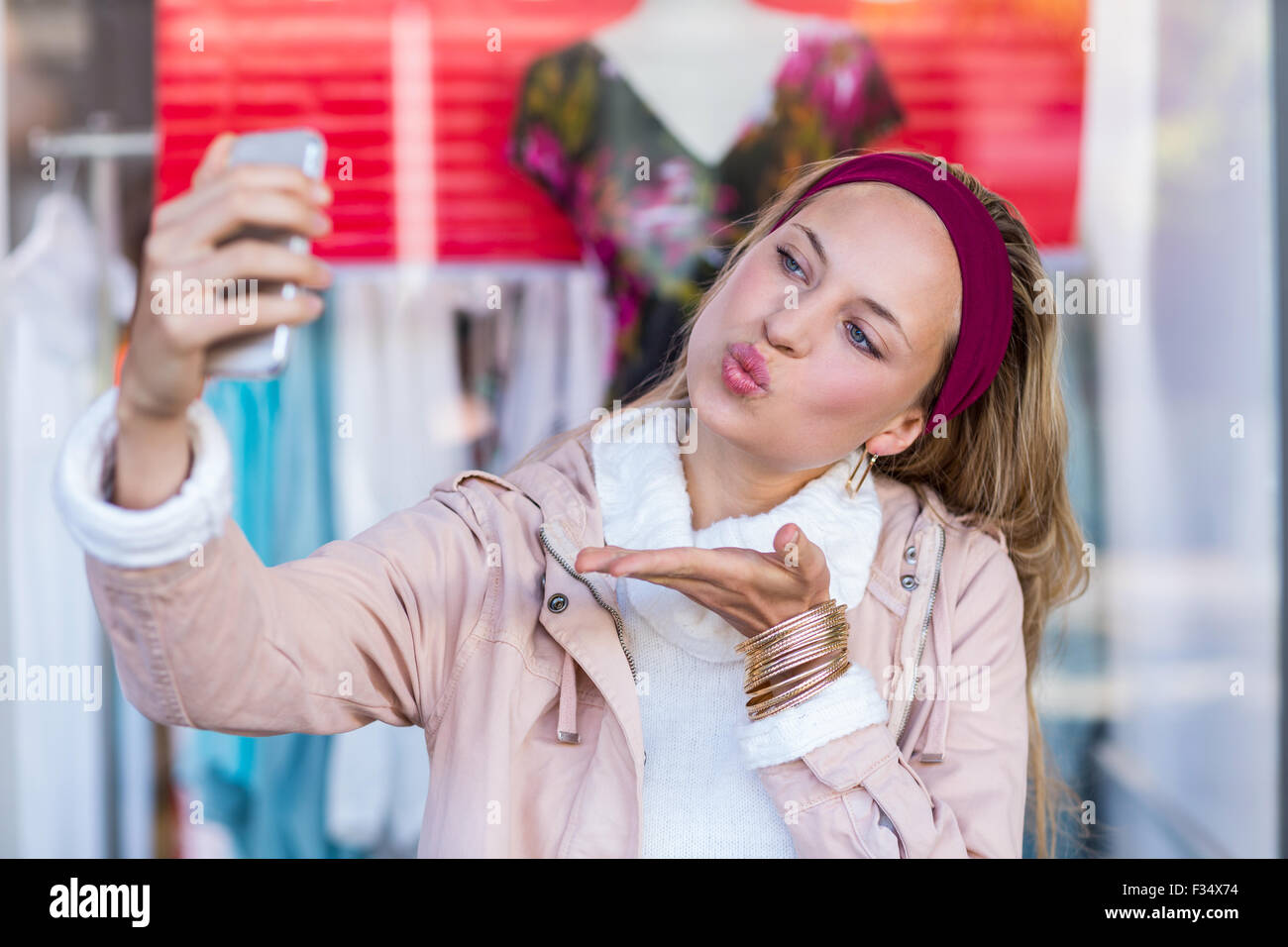 Girl Blowing Kiss Stock Images, Royalty-Free Images &- Vectors ...