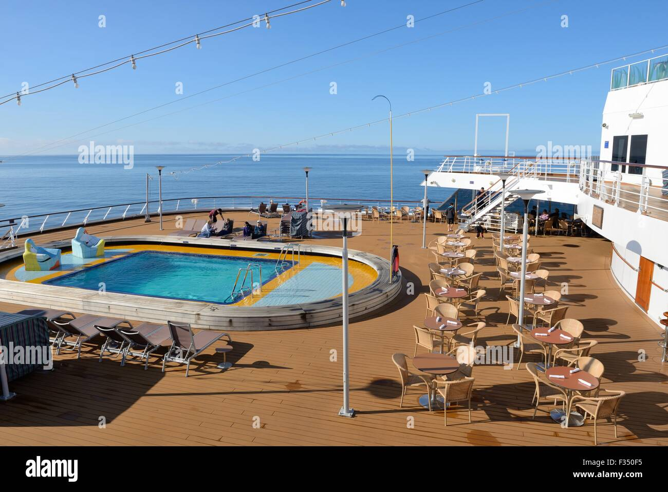 Swimming Pool On The Deck Of The Cruise Ship Volendam Stock Photo Royalty Free Image 88005993
