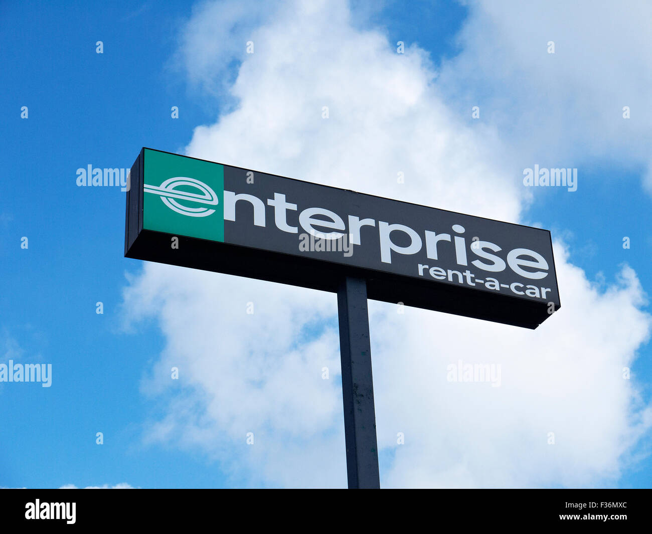 enterprise rent a car signpost uk stock photo royalty free image 88043940 alamy. Black Bedroom Furniture Sets. Home Design Ideas