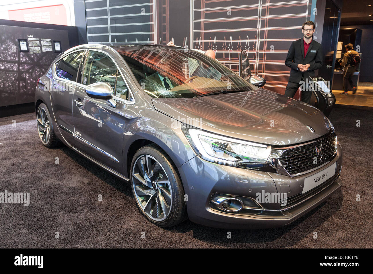 new citroen ds4 crossover at the iaa international motor show 2015 stock photo royalty free. Black Bedroom Furniture Sets. Home Design Ideas