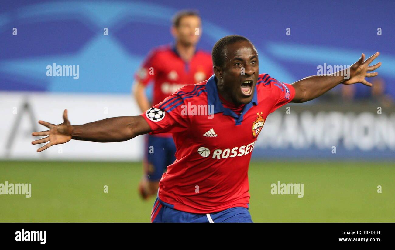 MOSCOW REGION RUSSIA SEPTEMBER 30 2015 CSKA s Seydou Doumbia