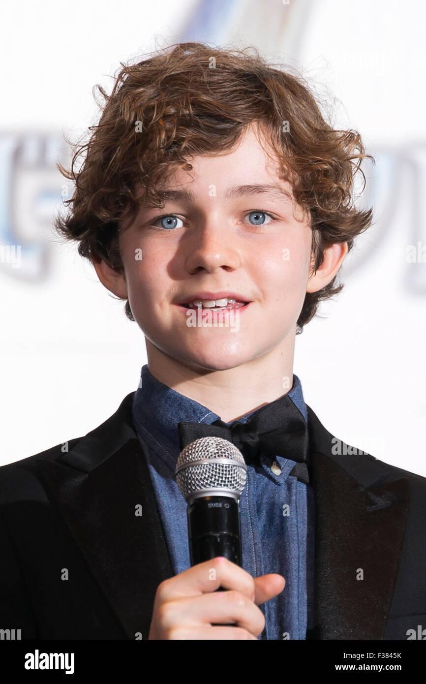 Levi Miller: Tokyo, Japan. 1st October, 2015. Australian Boy Actor Levi