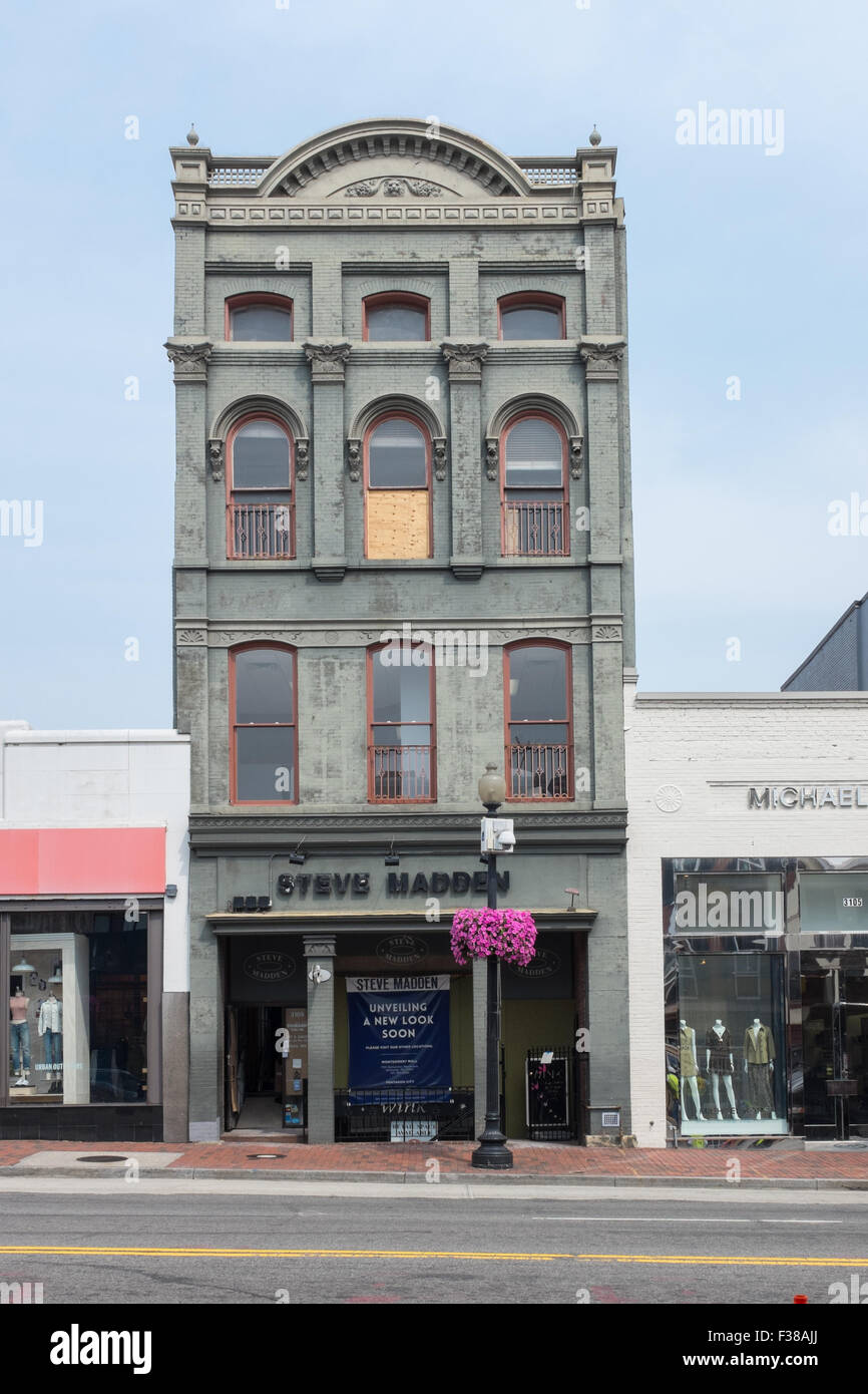 Steve Madden shoe shop building on M Street NW in Georgetown, Washongton DC
