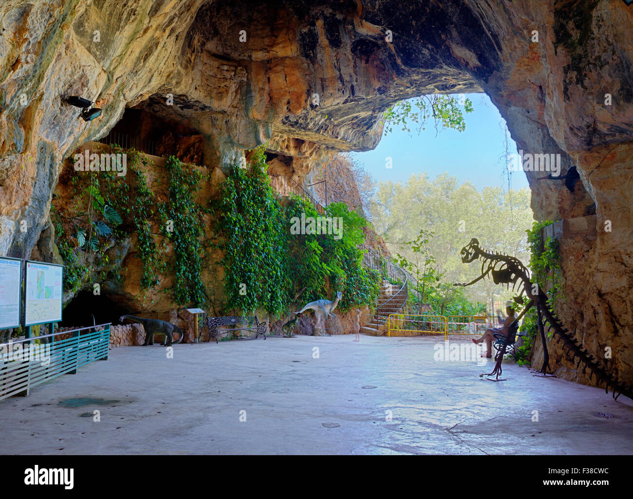 Cueva de las calaveras cave entrance benidoleig - Stock uno alicante ...