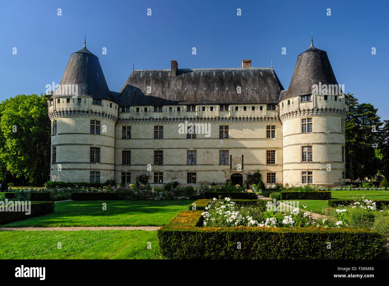 france loire valley indre et loire islette castle chateau de stock photo royalty free image. Black Bedroom Furniture Sets. Home Design Ideas