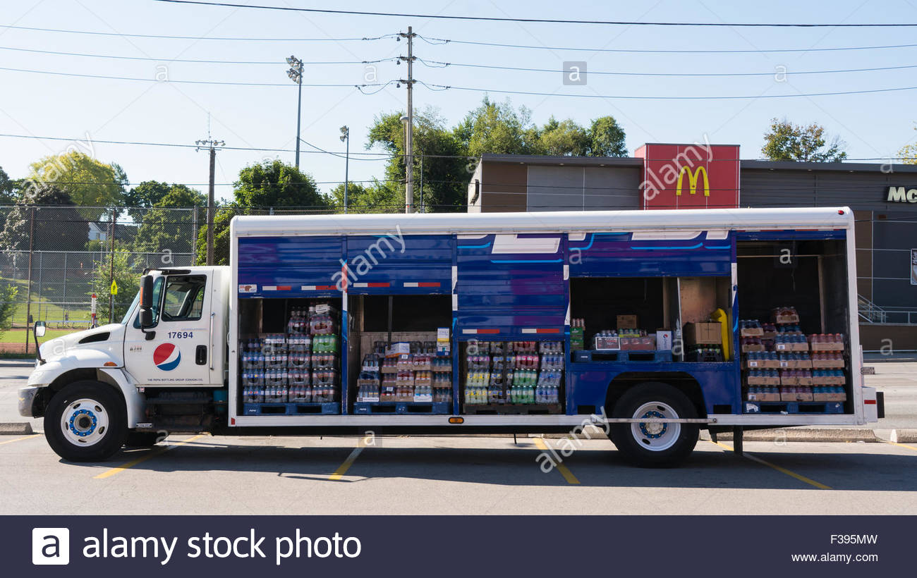 Pepsi Truck Carrying Cold Drink Of Various Brands Of Pepsico ...