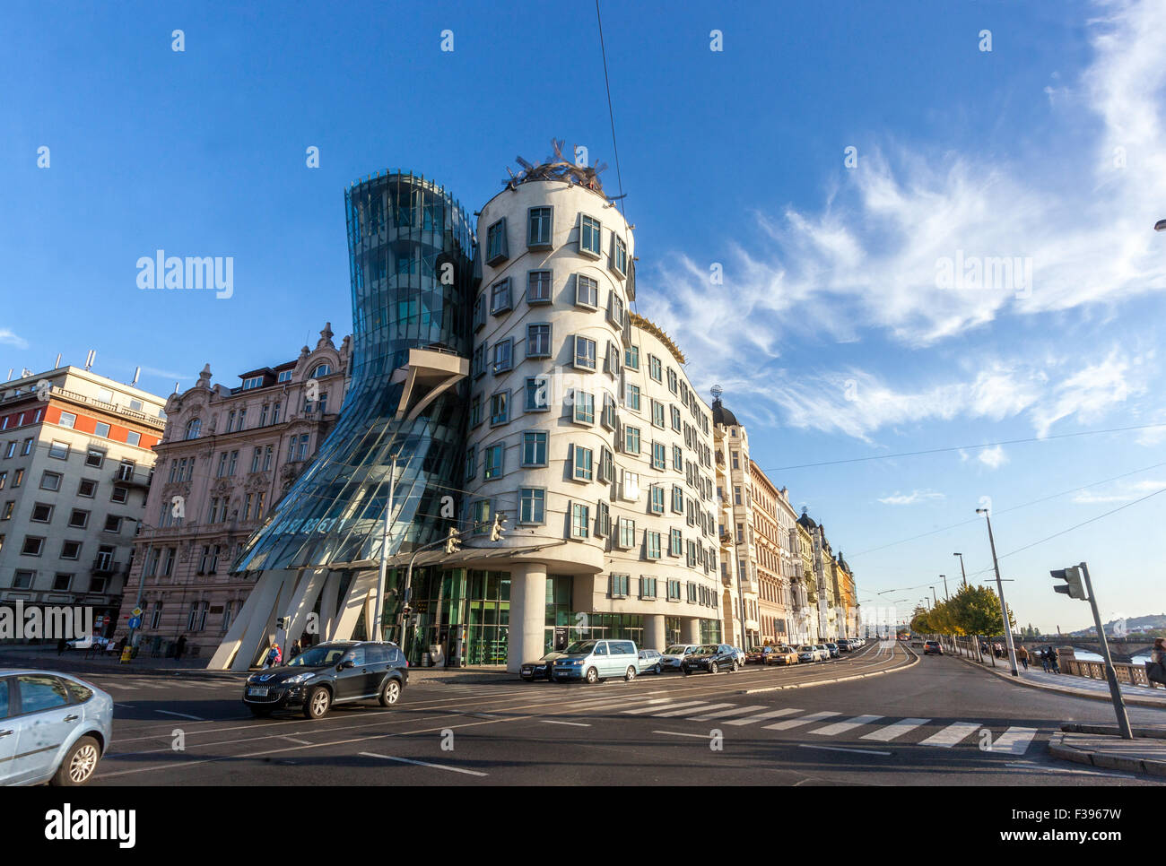 The Dancing House designed by Frank Gehry, Prague, Czech Republic, Europe