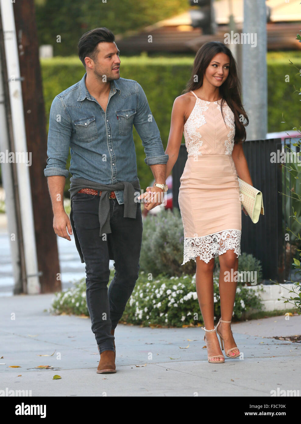 Mark Wright And Michelle Keegan At Craig S Restaurant In