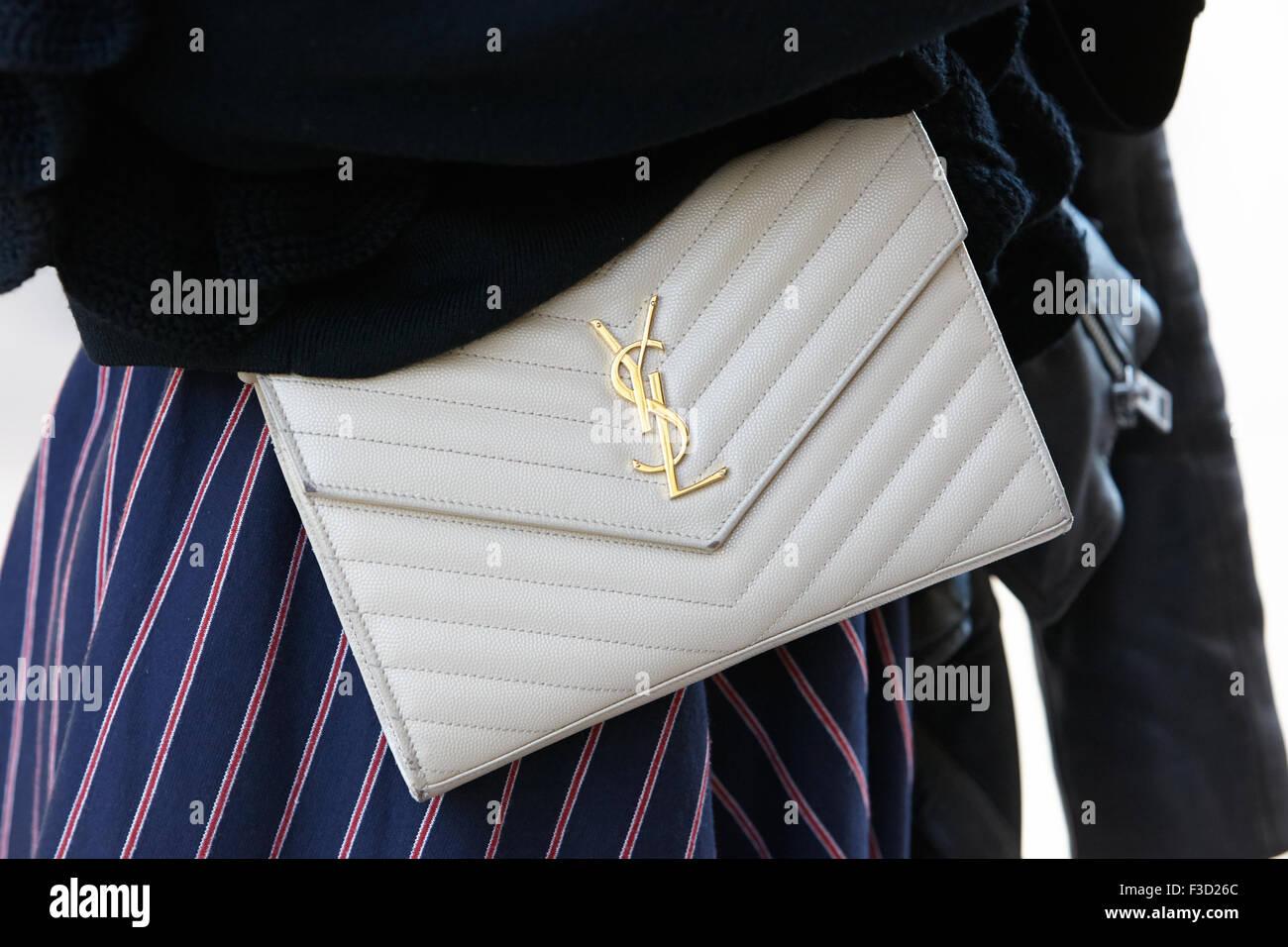 Yves Saint Laurent Bag Before Rochas Show, Paris Fashion Week Day ...