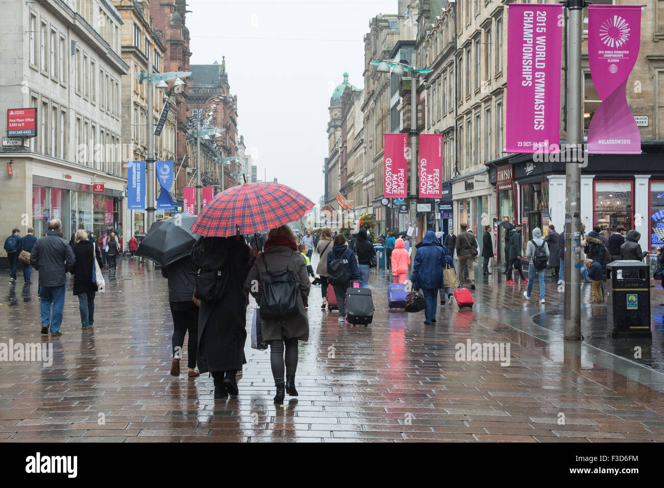 glasgow  scotland  uk - 5 october 2015  uk weather