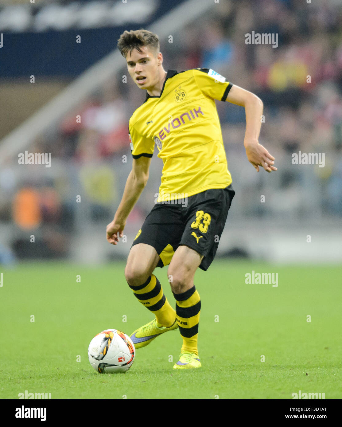 Munich Germany 4th Oct 2015 Dortmunds s Julian Weigl in action