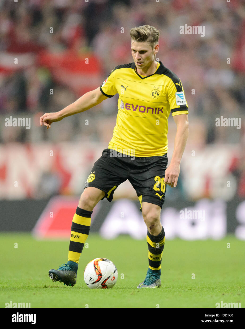 Munich Germany 4th Oct 2015 Dortmunds s Lukasz Piszczek in