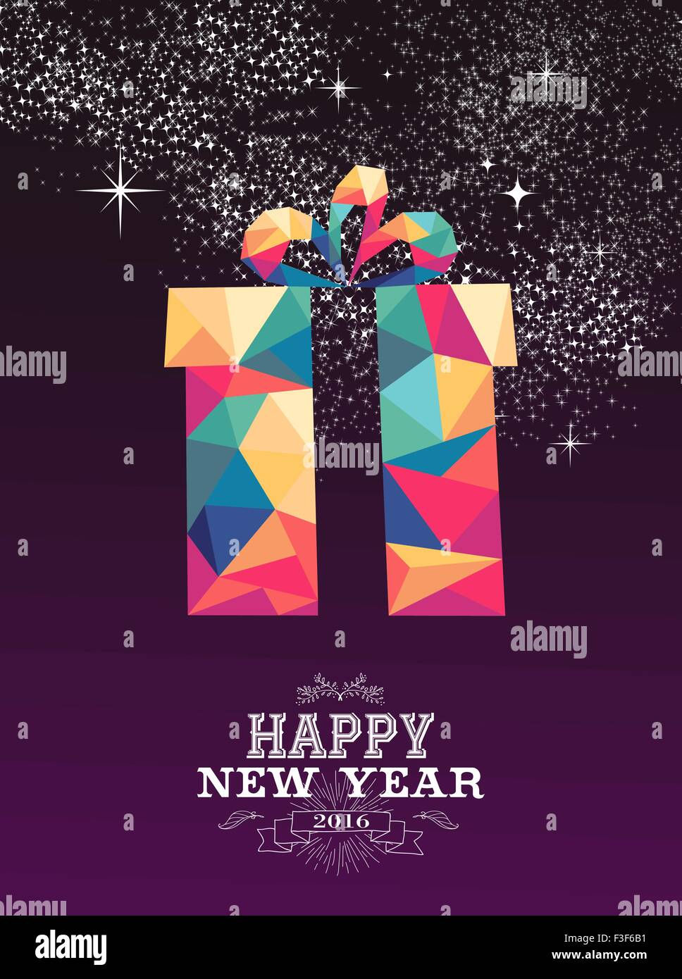 Design poster new - Poster Design 2016 Happy New Year 2016 Greeting Card Or Poster Design Triangle Style Gift