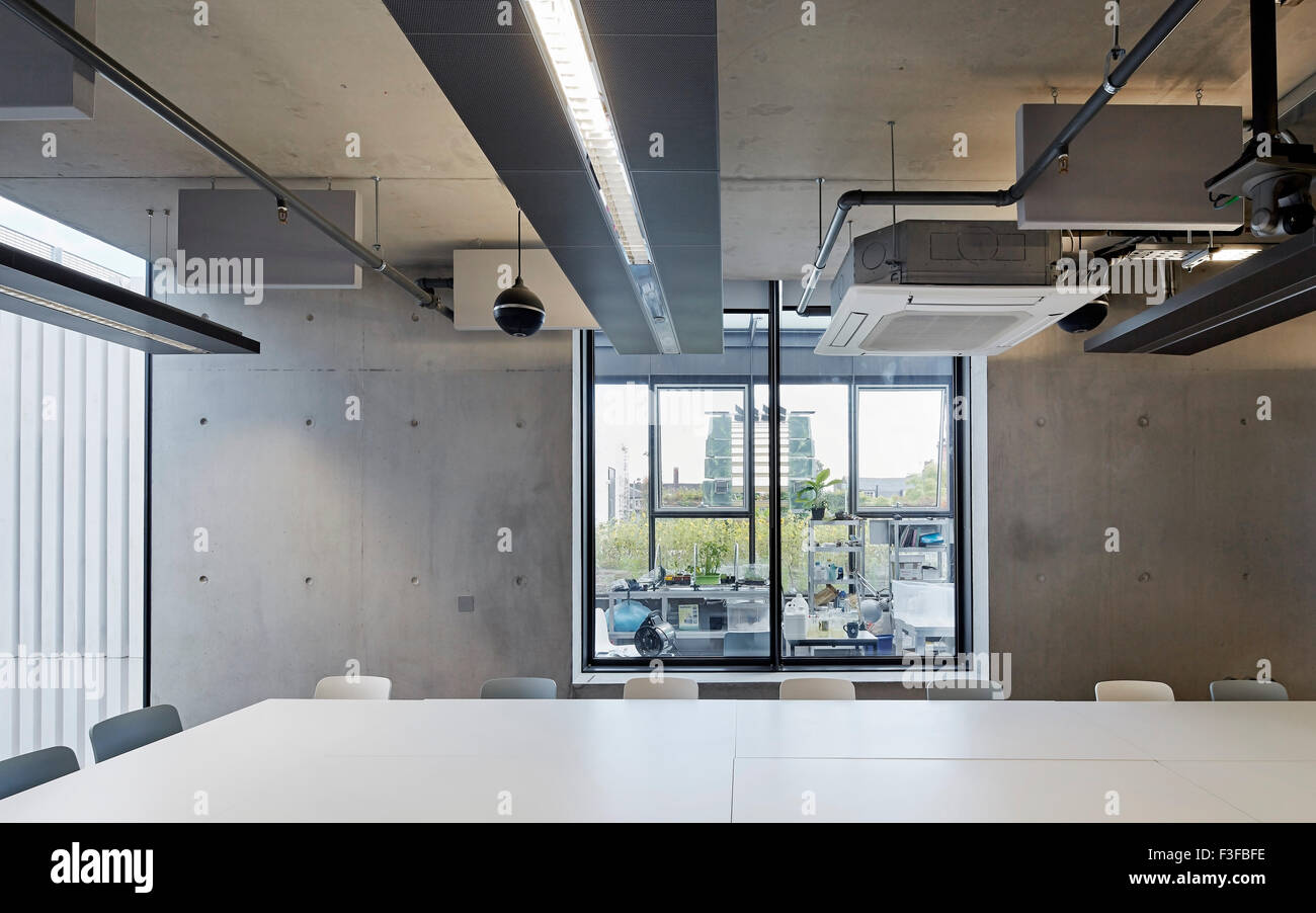 Meeting And Seminar Room With Exposed Concrete Wall Greenwich School Stock Photo Royalty Free