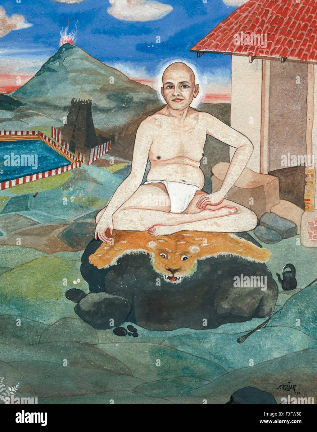 Artist S. Rajam saint sadhu swami sannyasin monk devotion ...