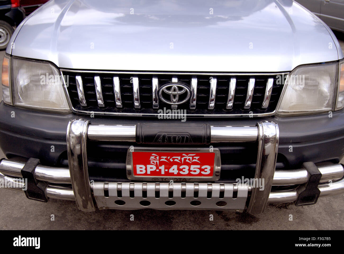 Color car number - Toyota Car Front View With Bhutani Number Plate Red Color At Thimpu Royal Govt Of Bhutan