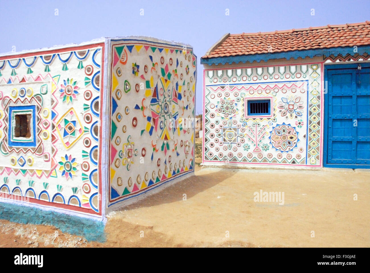 Kutchi mural work with mirror pieces on wall kutch gujarat kutchi mural work with mirror pieces on wall kutch gujarat india amipublicfo Choice Image