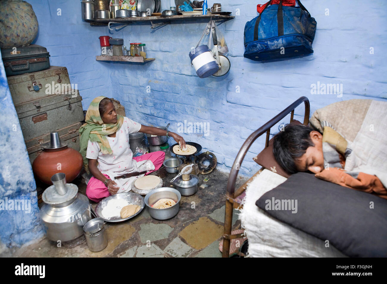 A small house of a construction worker ahmedabad gujarat india