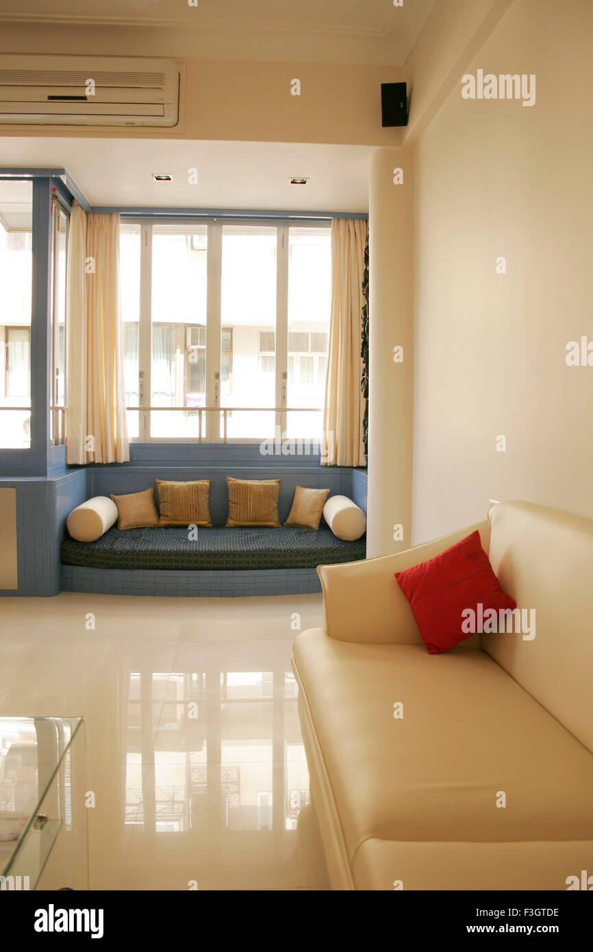 Interior Of Living Room Of Residential Flat Bombay Mumbai Stock