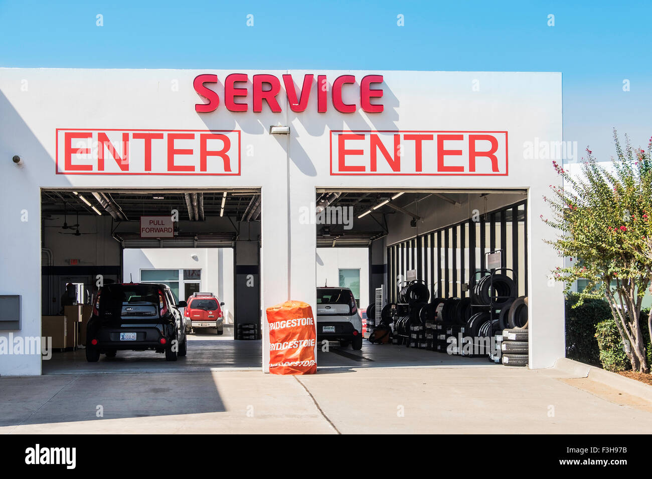 Service Garage Layout : A service garage exterior for kia dealership in oklahoma