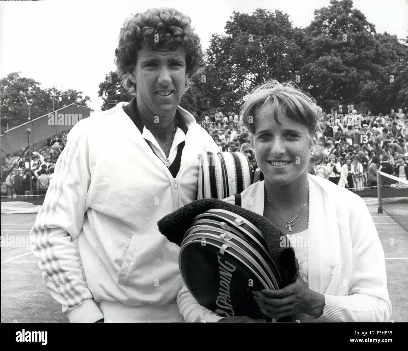 John And Tracy Austin At Wimbledon American tennis star TRACY