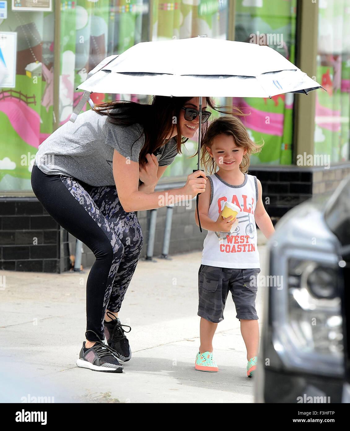 Megan Fox picks up son...