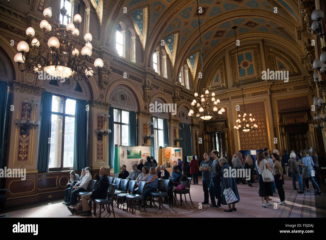 Open house day at foreign commonwealth office the locarno suite stock photo royalty free - British foreign commonwealth office ...