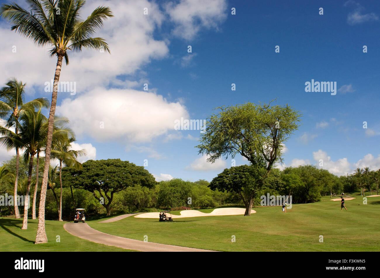 Golf Course in Wailea Hawaii Makena Beach