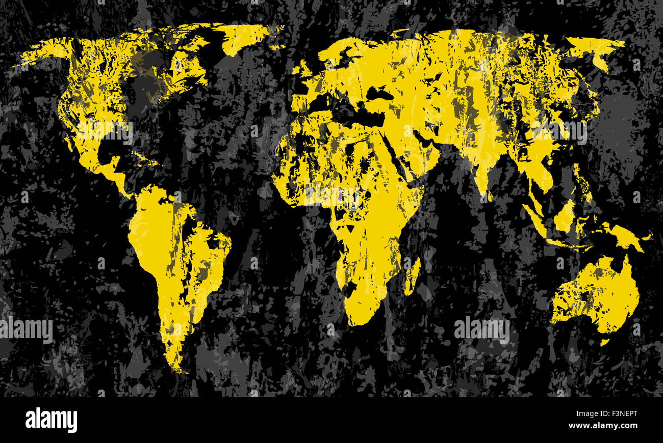 Grunge world map on a black background stock photo royalty free grunge world map on a black background gumiabroncs Gallery