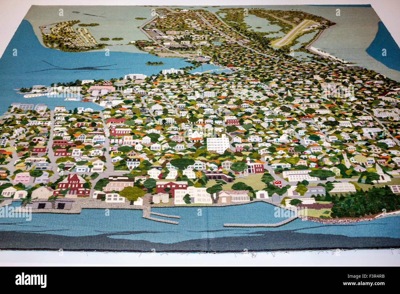Florida Key West Keys Old Town Key West Museum Of Art  History - Florida keys map art
