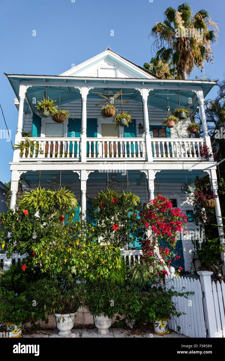 Florida key west keys old town caroline street house home for Plural of balcony
