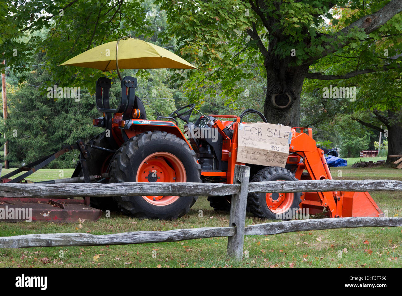 Tractor Splitting Rails : Kubota l tractor for sale behind a split rail fence