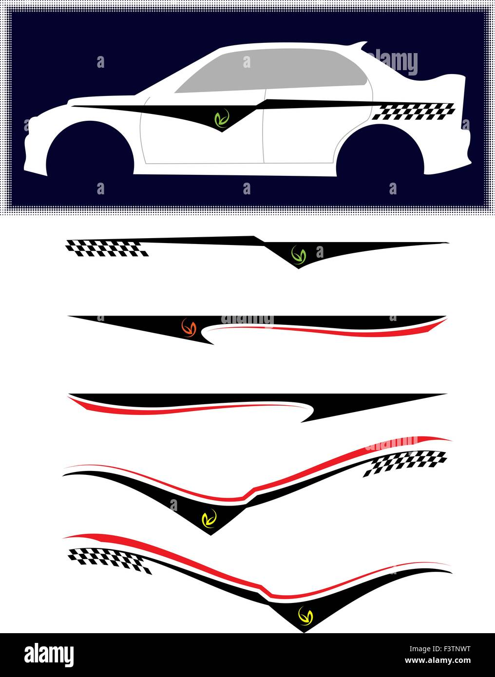 Vehicle Graphics Stripe Vinyl Ready Vector Art Stock Vector Art - Truck decal graphicstruck and vehicle decal graphic design stock vector image