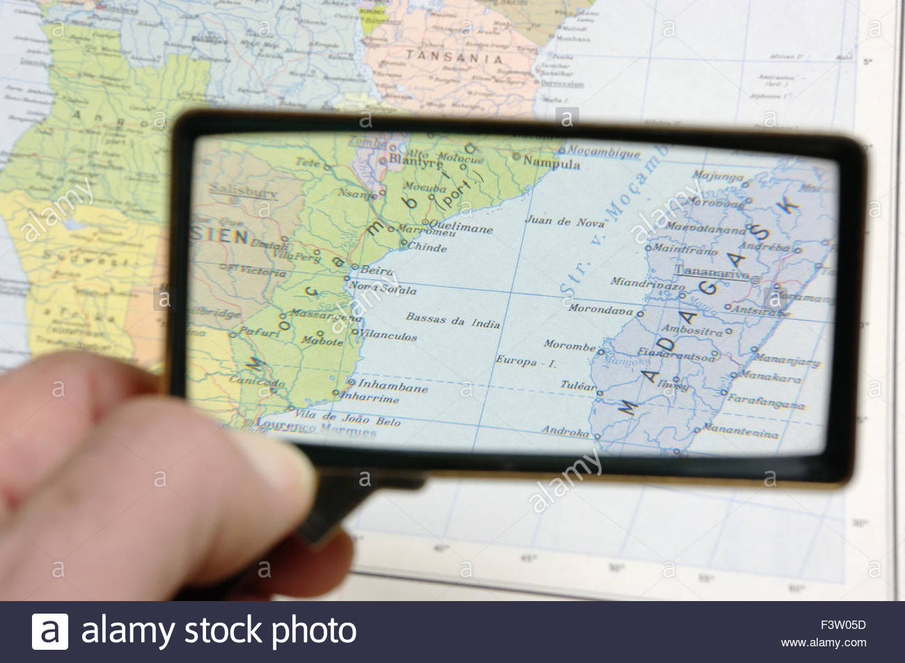 Map Of Africa SouthernAfrica Mozambique And Madagascar Stock