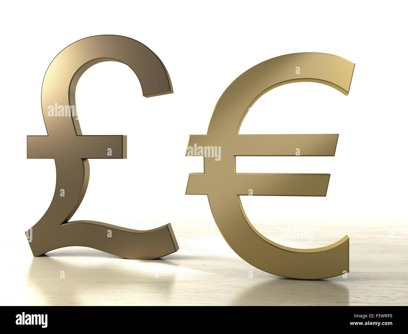 Euro and pound sign stock photo 88463060 alamy euro and pound sign buycottarizona Gallery