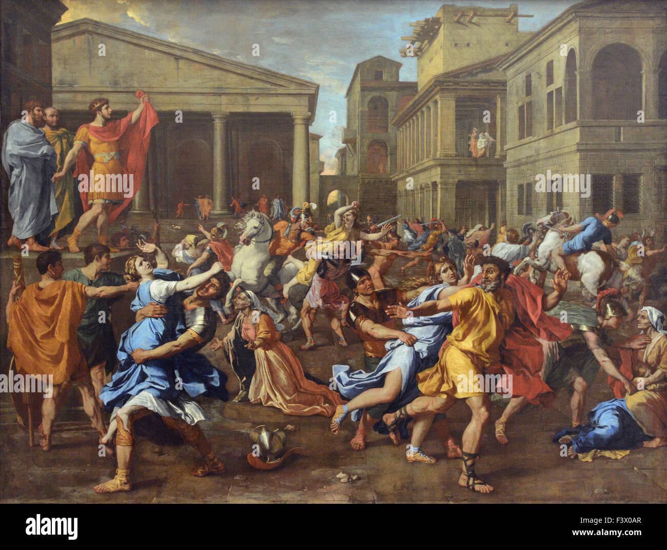 Top Nicolas Poussin - L'Enlevement des Sabines - Louvre Museum Paris  RQ01