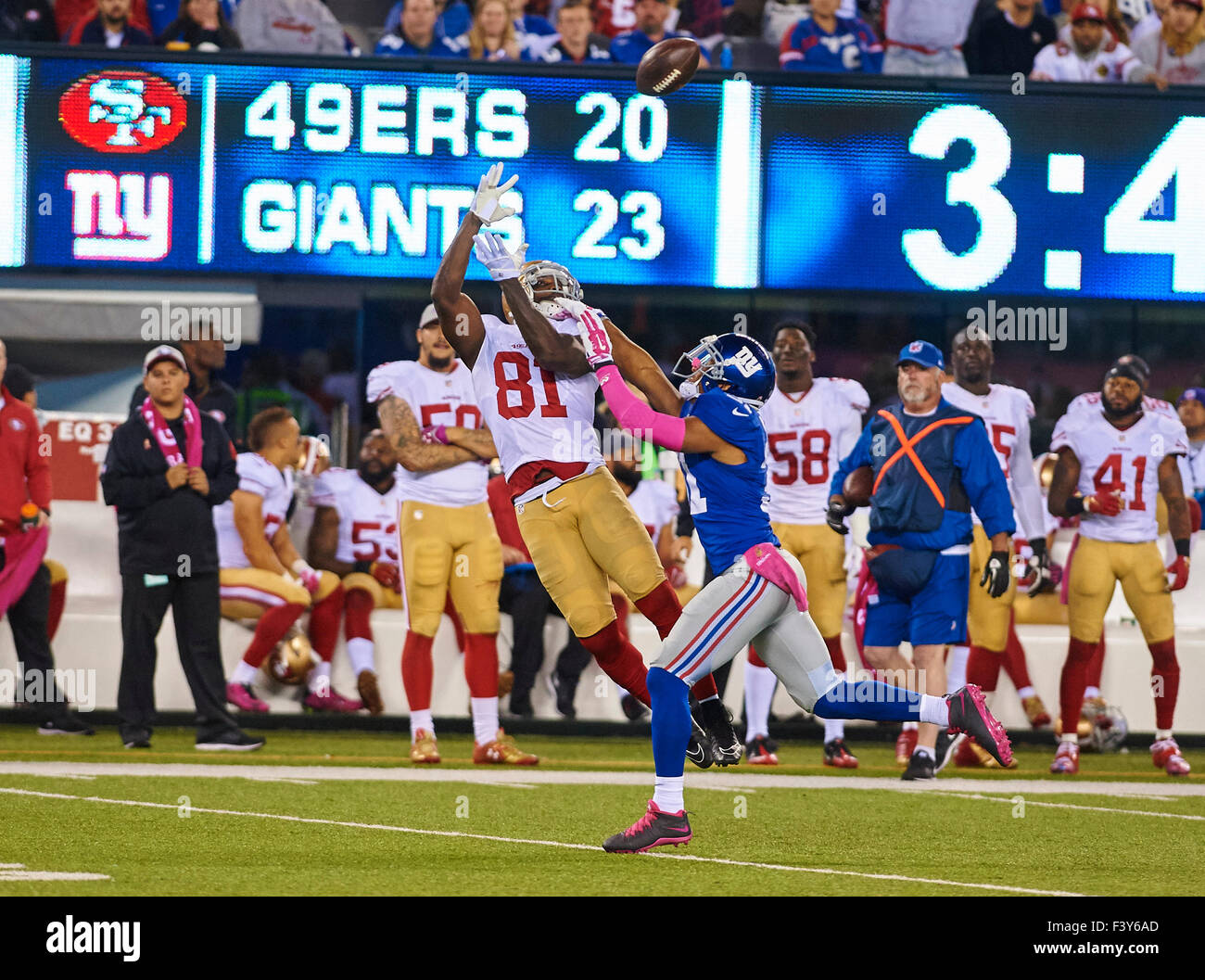 NFL Jerseys Nike - 49ers Wide Receiver Anquan Boldin (81) Catches A Pass Over Giants ...