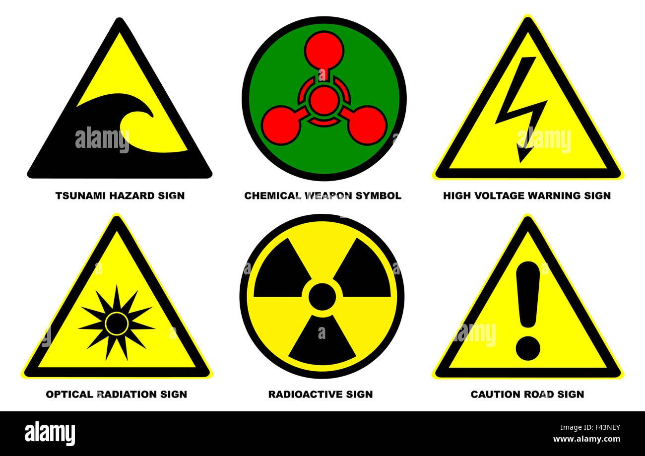 Warning signs disaster stock photos warning signs disaster stock hazard warning signs set 2 stock image biocorpaavc