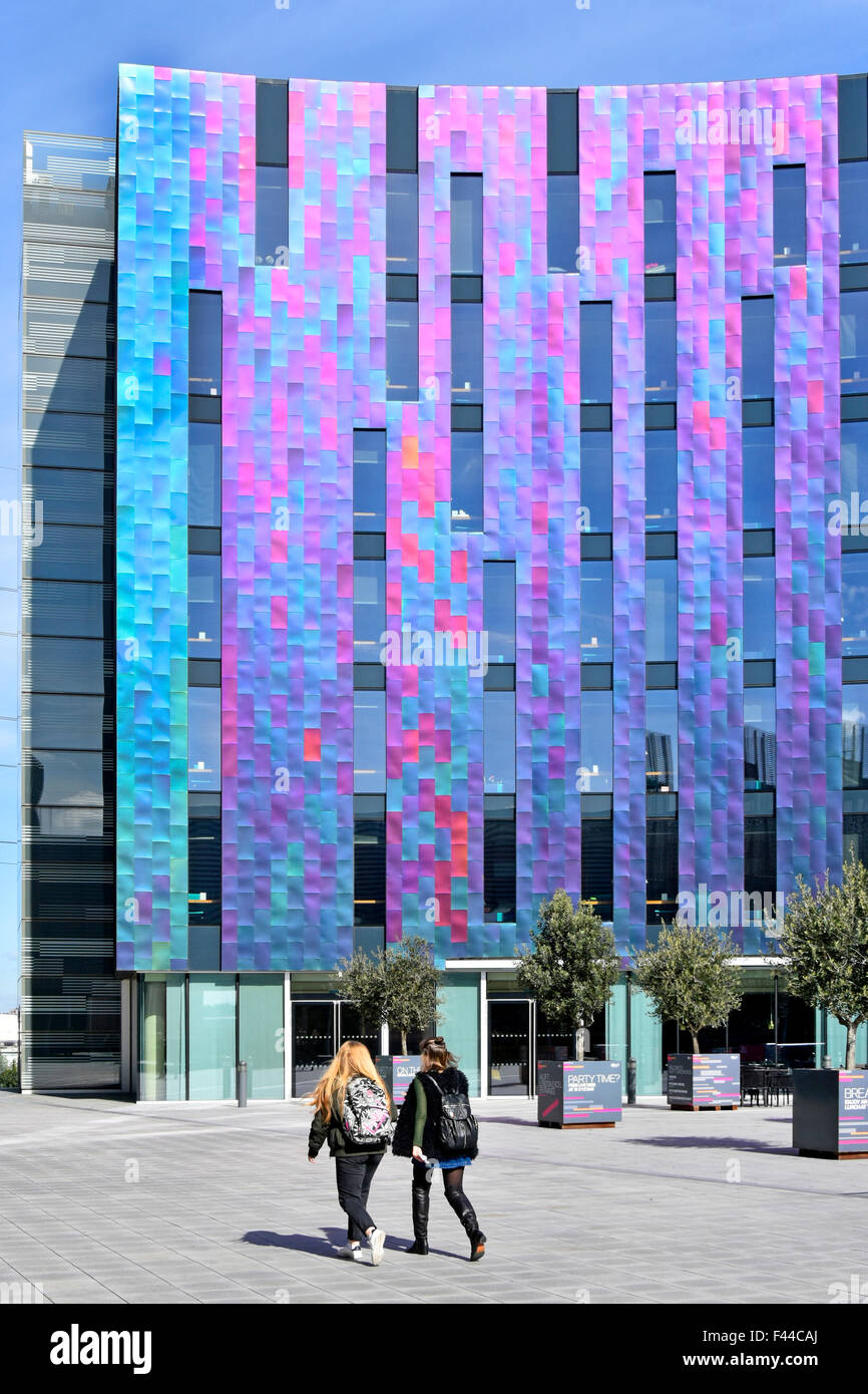 hotel modern architecture colourful cladding panels on