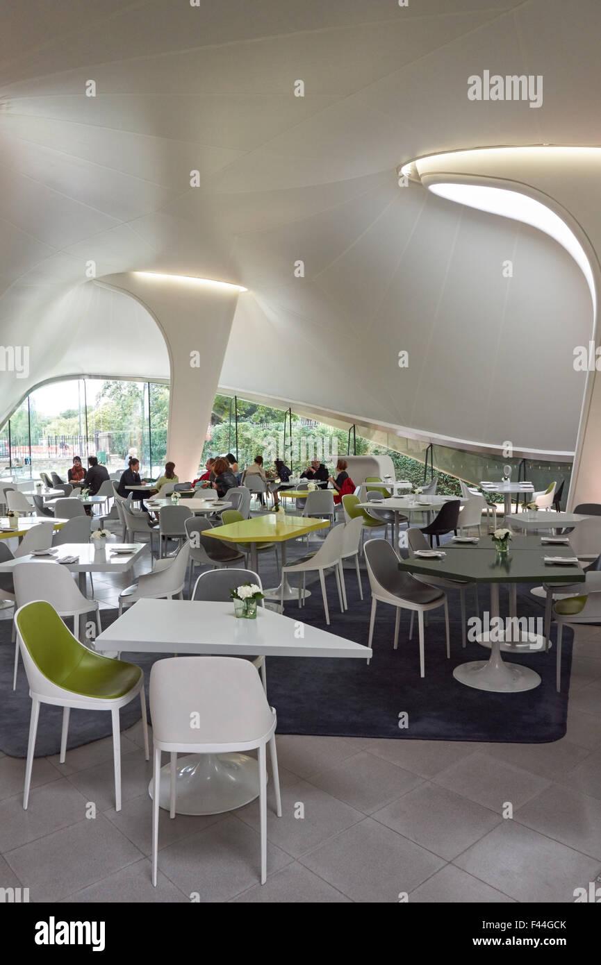 Interior of the magazine restaurant at serpentine