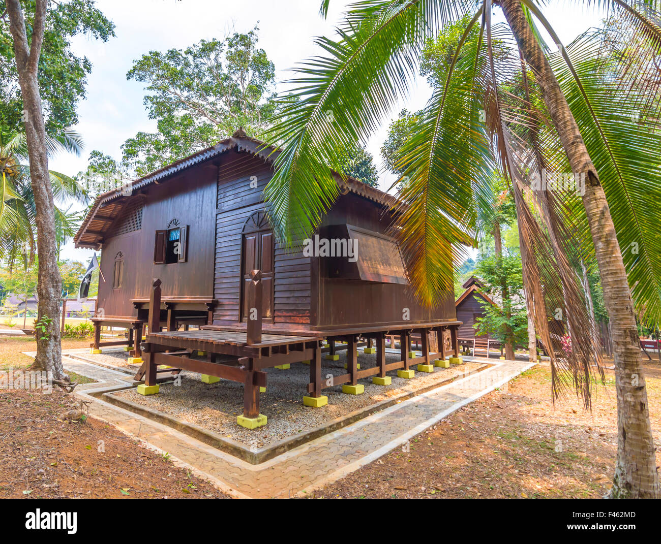 marvelous wooden house in malaysia house