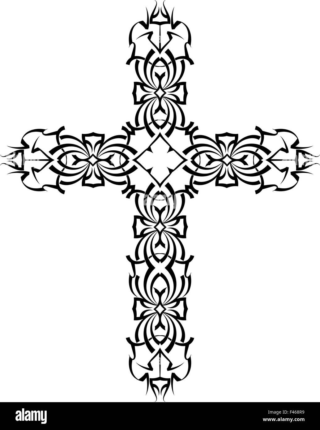 Tattoo christian cross vector art stock vector art illustration tattoo christian cross vector art buycottarizona