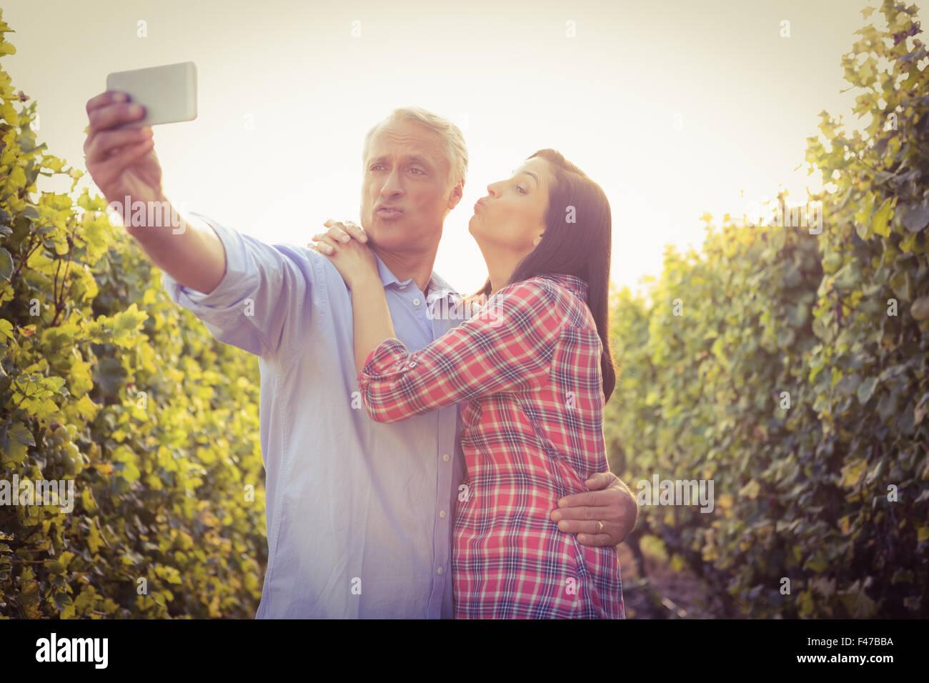 Beautiful Woman Taking Selfie Photo Blowing Stock Photo 192063287 ...